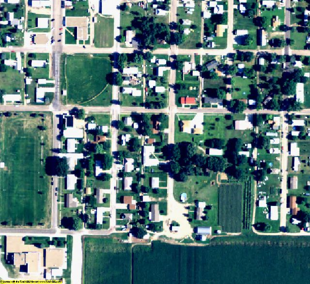 Logan County, NE aerial photography detail