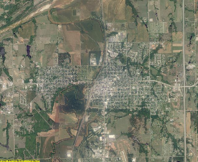 Logan County, Oklahoma aerial photography