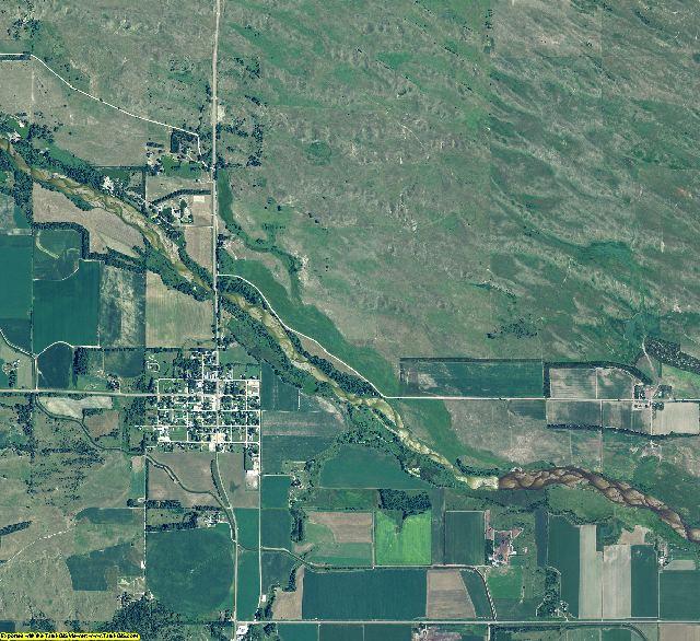 Loup County, Nebraska aerial photography