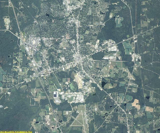 Lowndes County, Georgia aerial photography