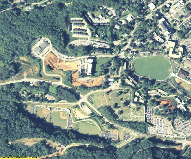 Lumpkin County, GA aerial photography detail