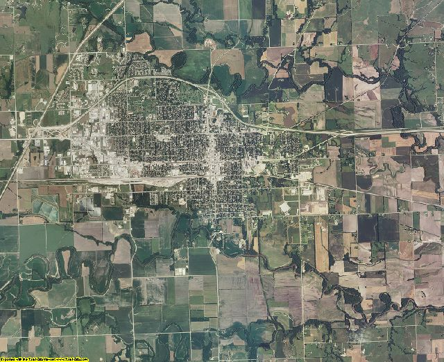 Lyon County, Kansas aerial photography