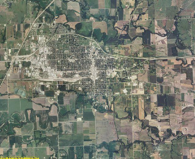 Lyon County, Kansas aerial photography