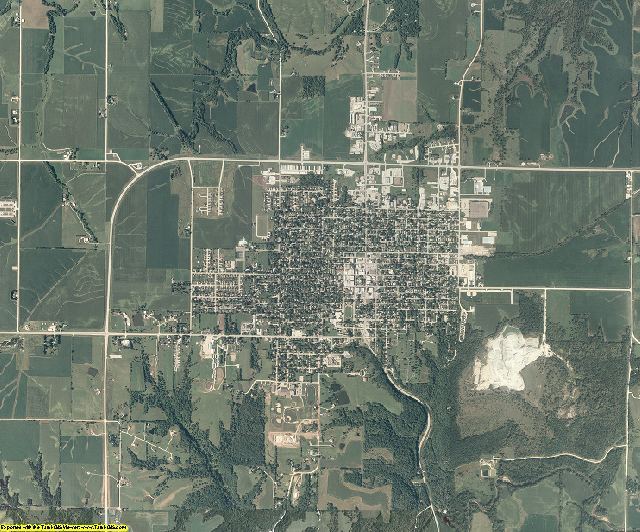Madison County, Iowa aerial photography