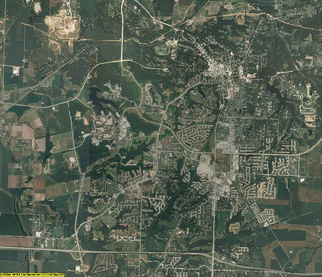 Madison County, Illinois aerial photography