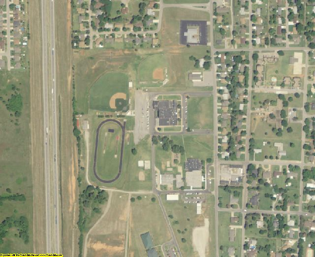 McClain County, OK aerial photography detail