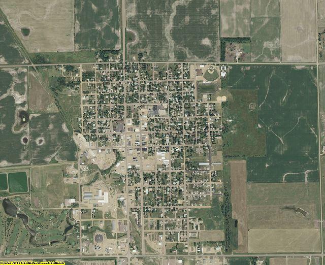 McCook County, South Dakota aerial photography