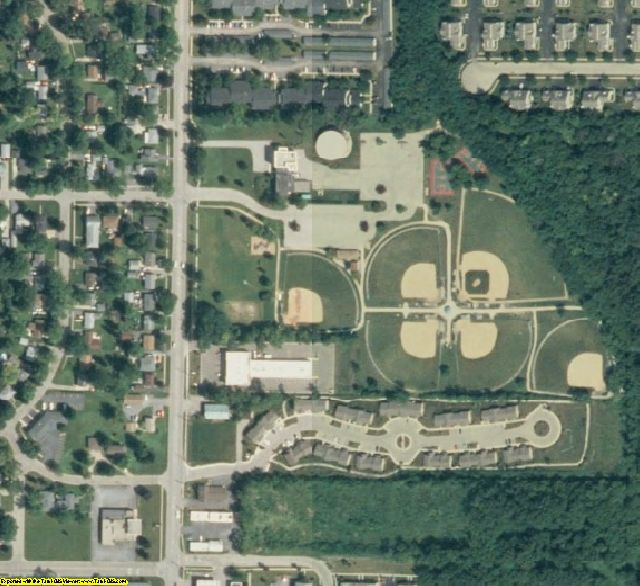 McHenry County, IL aerial photography detail