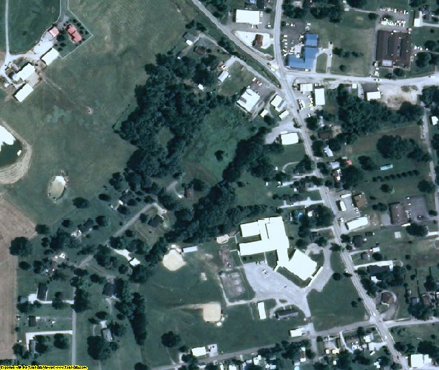 McLean County, KY aerial photography detail