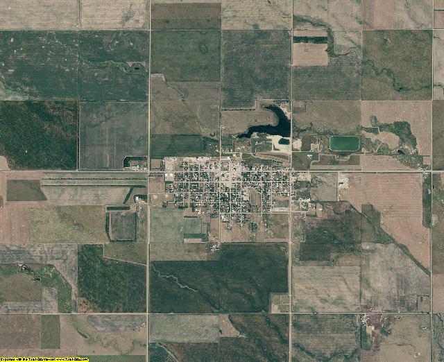 McPherson County, South Dakota aerial photography