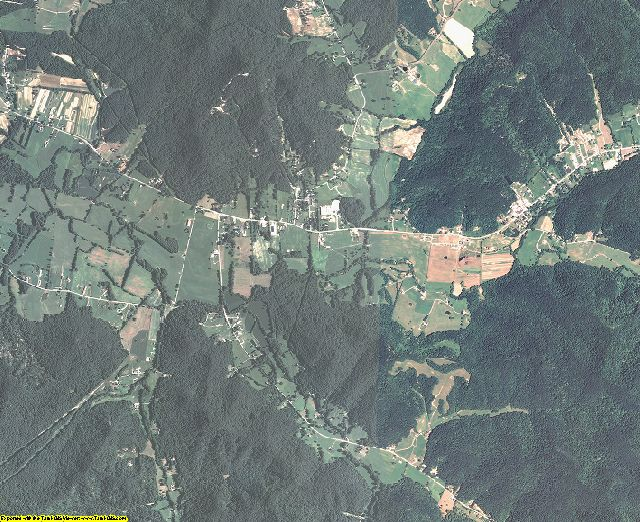 Menifee County, Kentucky aerial photography