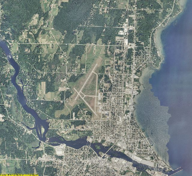 Menominee County, Michigan aerial photography
