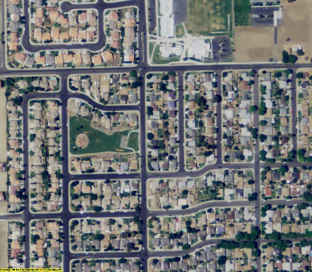 Merced County, CA aerial photography detail