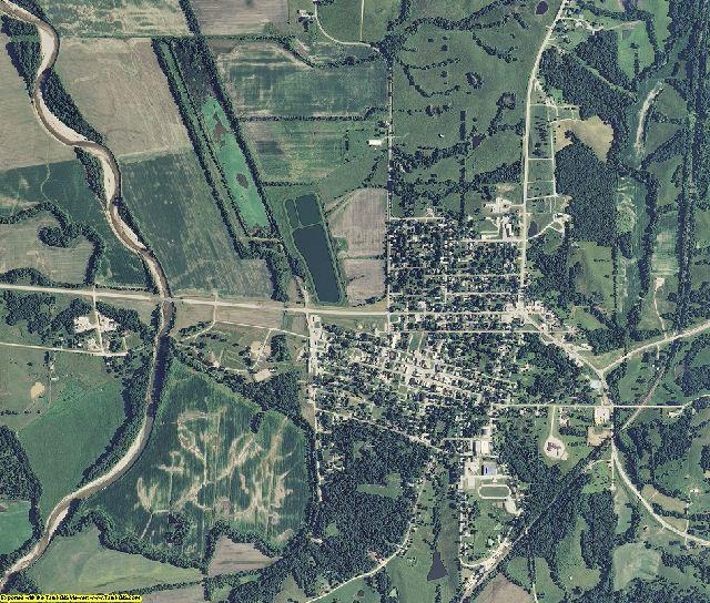 Mercer County, Missouri aerial photography