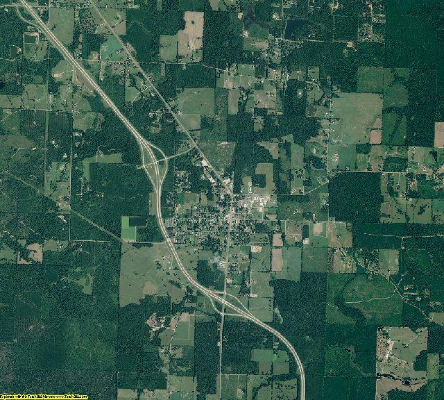 Miller County, Arkansas aerial photography