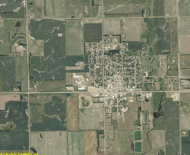 Miner County, South Dakota aerial photography