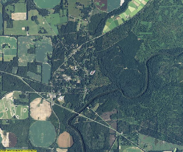Mitchell County, Georgia aerial photography