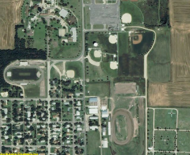 Mitchell County, KS aerial photography detail