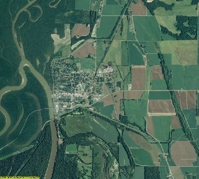 Monroe County, Arkansas aerial photography