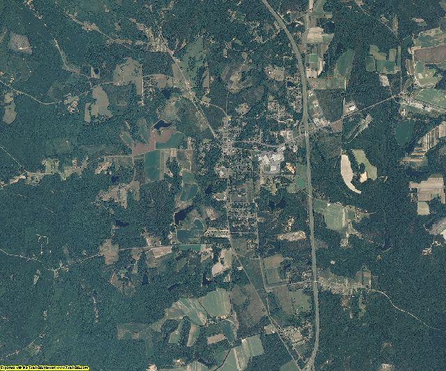 Montgomery County, North Carolina aerial photography