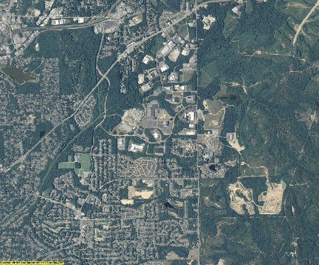 Muscogee County, Georgia aerial photography