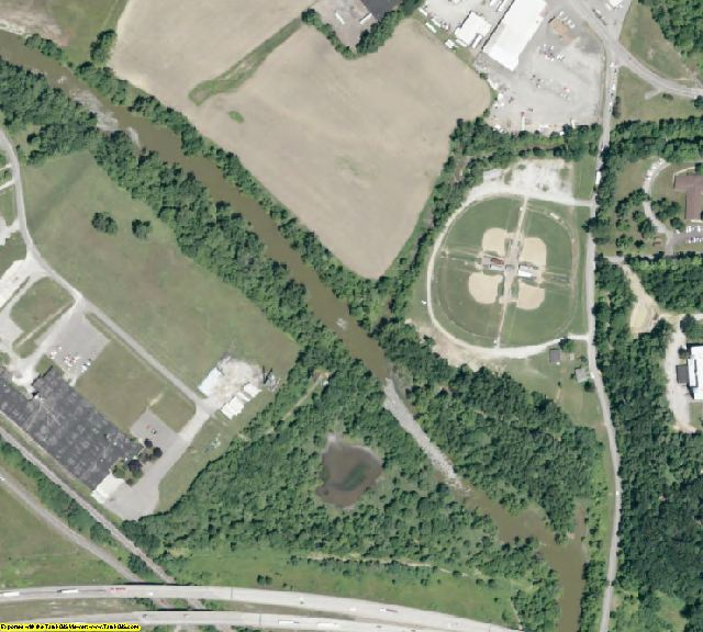 Muskingum County, OH aerial photography detail