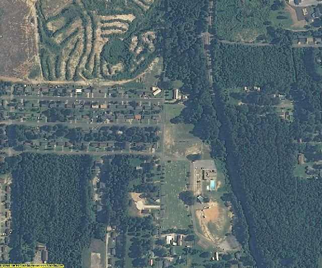 Neshoba County, MS aerial photography detail