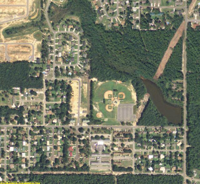 Okaloosa County, FL aerial photography detail