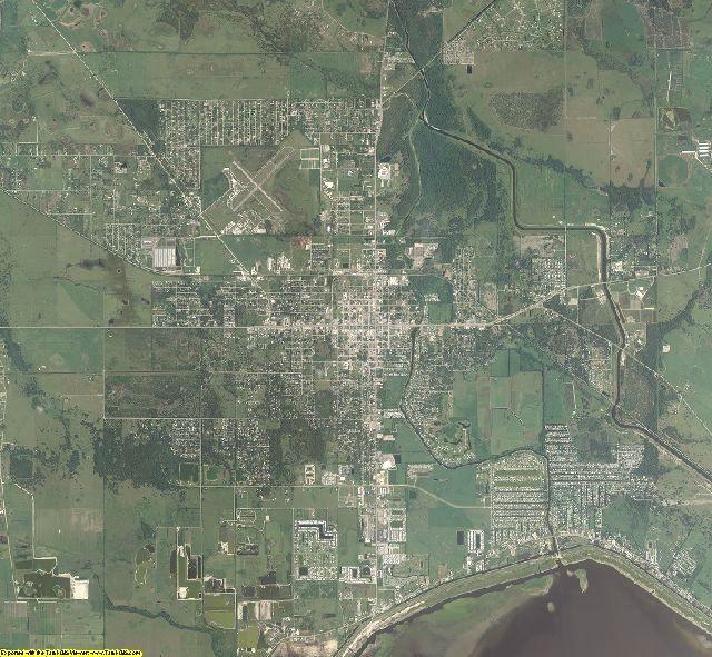Okeechobee County, Florida aerial photography