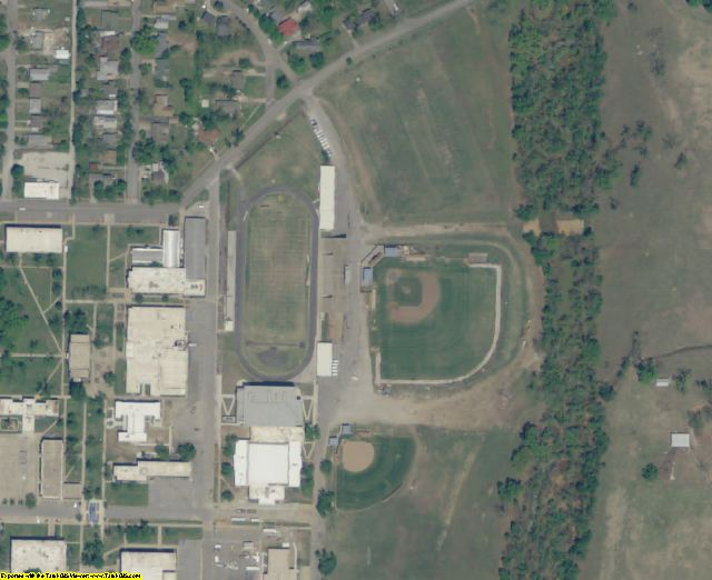 Ottawa County, OK aerial photography detail
