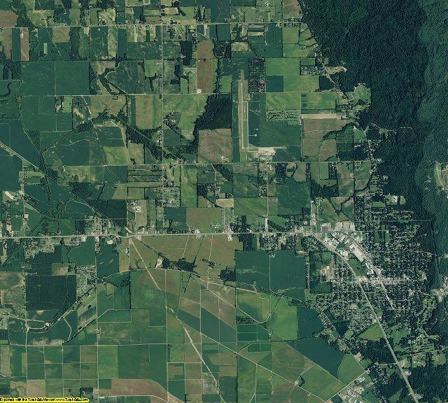 Phillips County, Arkansas aerial photography