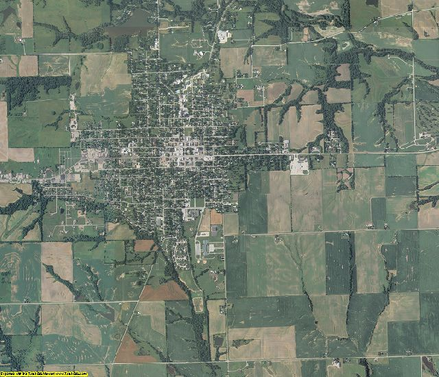 Pike County, Illinois aerial photography