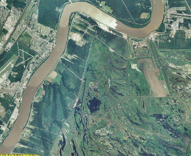 Plaquemines County, Louisiana aerial photography