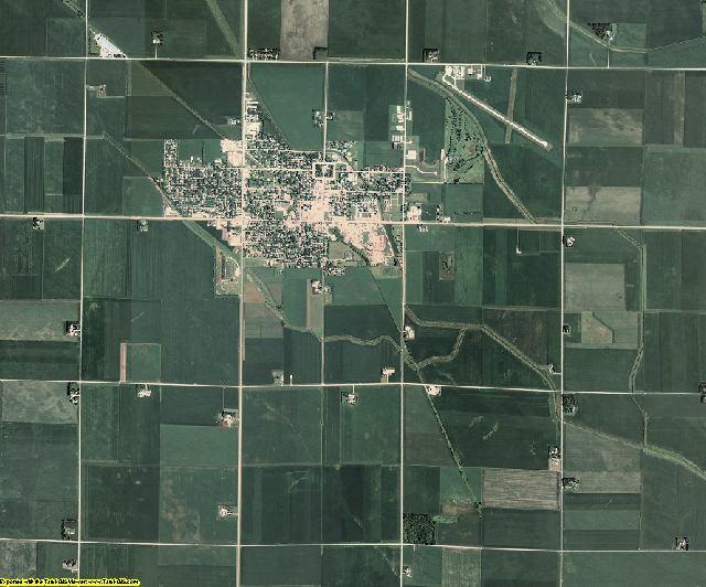 Pocahontas County, Iowa aerial photography