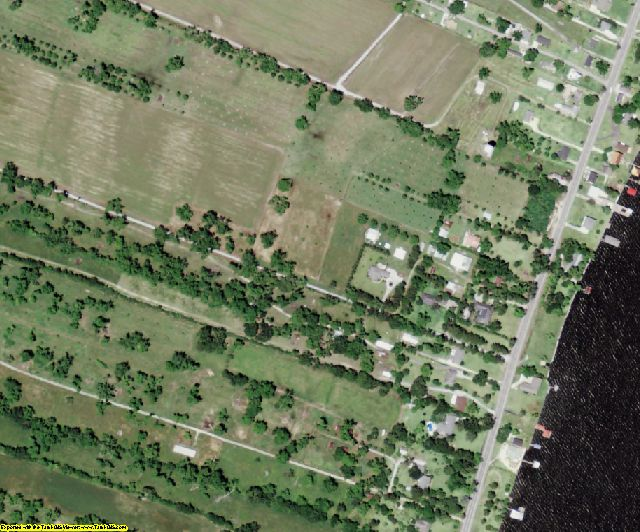 Pointe Coupee County, LA aerial photography detail