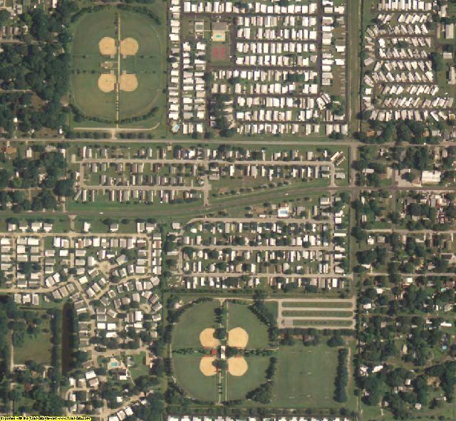Polk County, FL aerial photography detail