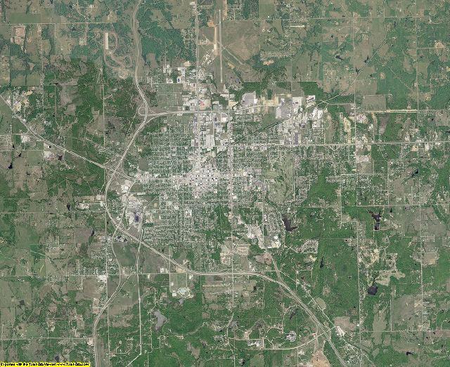 Pontotoc County, Oklahoma aerial photography