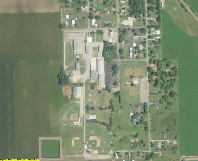 Pottawatomie County, OK aerial photography detail