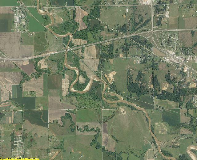 Pottawatomie County, Oklahoma aerial photography