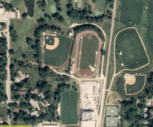 Poweshiek County, IA aerial photography detail