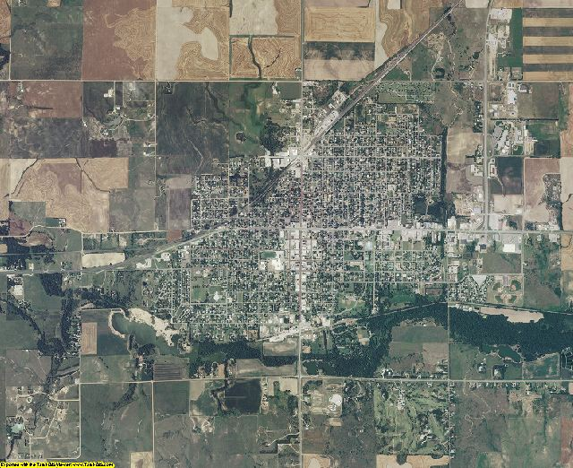 Pratt County, Kansas aerial photography