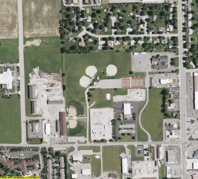 Preble County, OH aerial photography detail