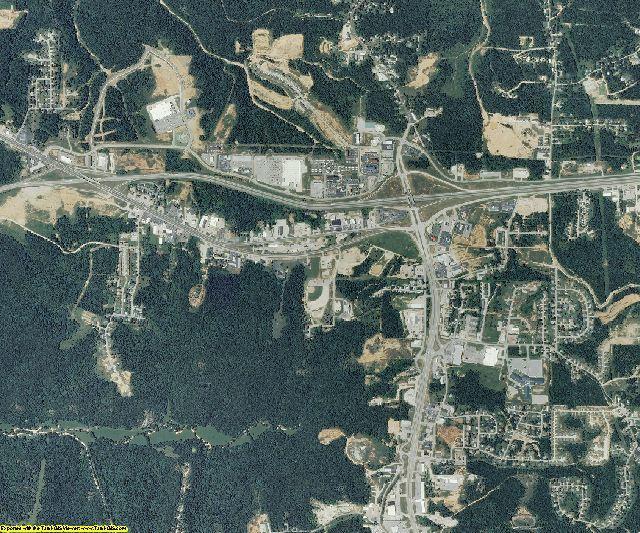 Pulaski County, Missouri aerial photography