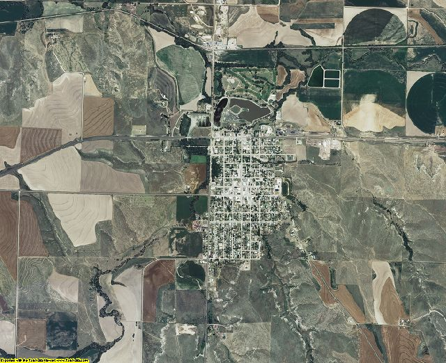 Rawlins County, Kansas aerial photography
