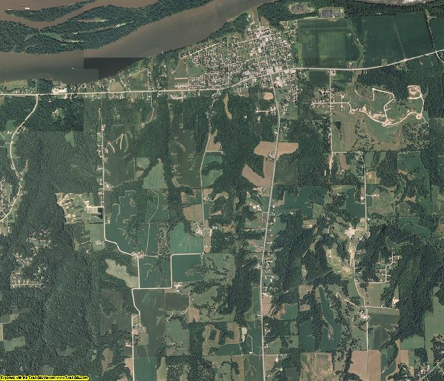 Rock Island County, Illinois aerial photography