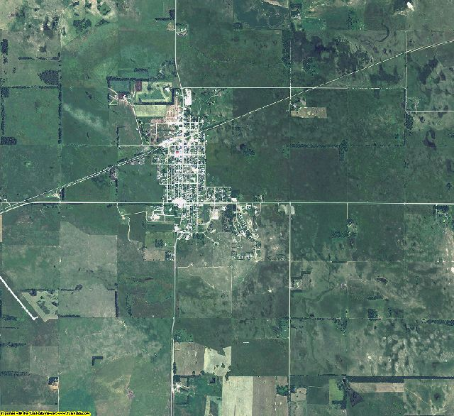 Rock County, Nebraska aerial photography