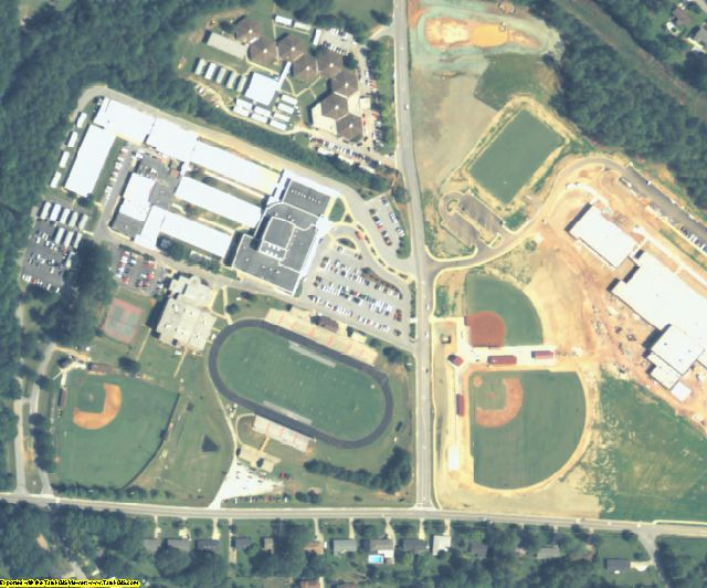Rockdale County, GA aerial photography detail