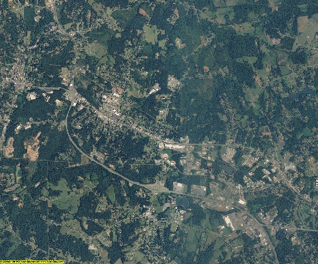 Rutherford County, North Carolina aerial photography