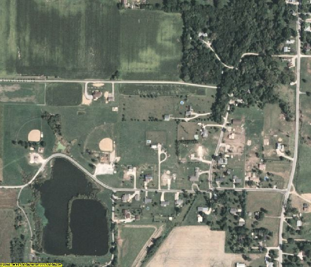 Sangamon County, IL aerial photography detail