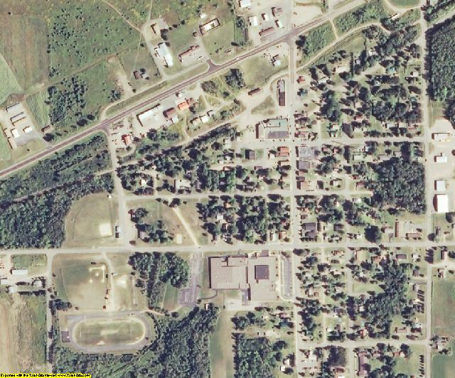 Sawyer County, WI aerial photography detail
